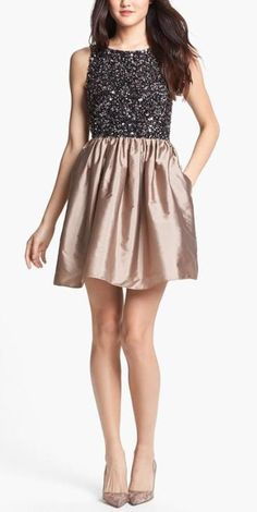 Shimmery Sequin Cocktail Dress