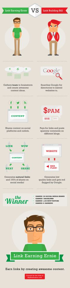 Link Earning vs. Link Building [Infographic]