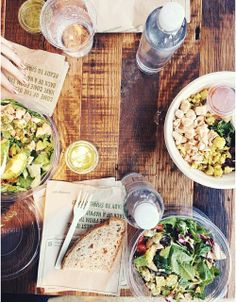 Chipotle - but delicious and healthy salads. So good.