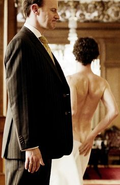 Sherlock - A Scandal in Belgravia We all appreciated this. And Mycroft's face. <----- He's trying not to laugh you can tell... ;)