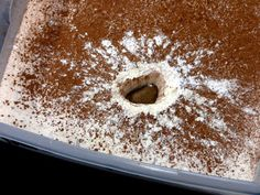 Fill a tub with flour and cocoa powder, then drop rocks from various heights to simulate craters and their impact.  Fun idea!