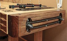 Woodworker: Greg Scala Scala knew that he needed a workbench that was dead-flat, sturdy, equipped with good vises, and built at the right height for his 5-ft.-9-in. frame. He also wanted a board...