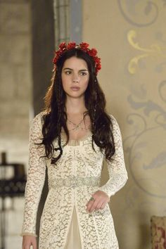Reign - this show, man. Hair + amazing costumes and adore the set too: look at the beautiful wall design