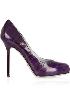 Sergio Rossi | Purple leather pumps