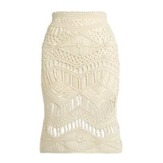 Tabula Rasa Tuva hand-macramé silk and wool-blend skirt (20,485 INR) ❤ liked on Polyvore featuring skirts, cream skirt, silk skirt, crochet skirts, cream crochet skirt and macrame skirt