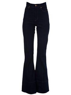 AMAPÔ - Calça jeans flare azul 6