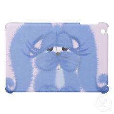 Aqua the bunny with sleepy eyes, IPad Mini Case.  $39.95