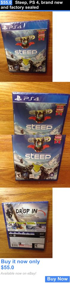 Video Gaming: Steep, Ps 4, Brand New And Factory Sealed BUY IT NOW ONLY: $55.0