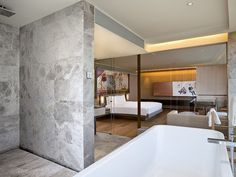Suite-View from bath at EAST, Beijing by swirehotels