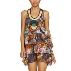 Desigual Ruffle Dress Multi ($76)