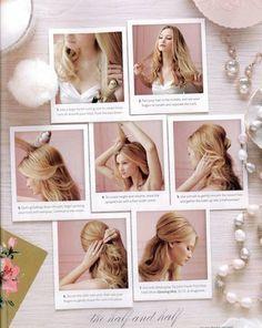 Braut - Haare offen, wellig, die Seiten weggesteckt