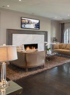 Fireplace: modern mantel design