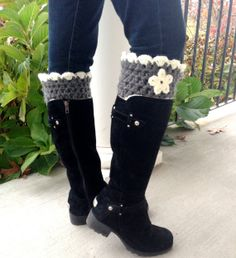 Crochet Boot Cuffs Boot Toppers Unique Leg by JadeExpressions, $36.00