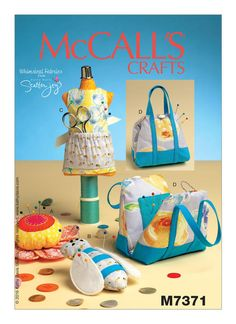 McCalls 7371 Mannequin, Purse, Flower and Bee-Shaped Pin Cushions Sewing Pattern, New Uncut Pattern, DIY Cute pincushions Easy Sewing Patterns, Mccalls Sewing Patterns, Craft Patterns, Fabric Crafts, Sewing Crafts, Sewing Projects, Online Craft Store, Craft Stores, Pattern Grading