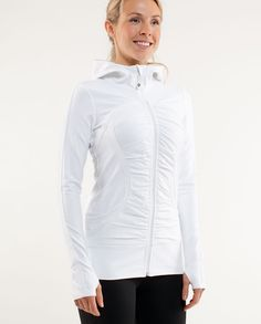 Pure Balance Jacket Warn your running partner that you've got this jacket on. Extreme comfort may cause you to break pace. Running Jacket, Running Gear, Lululemon Jacket, Jackets For Women, Clothes For Women, Athletic Outfits, Hoodie Jacket, Dress To Impress, Pure Products