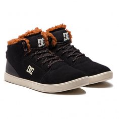 ad79c9d7504c2 Sneakersy DC - Crisis High Wnt ADBS100215 Black Brown Brown (XKCC)