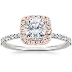 14K Rose Gold Mixed Metal Waverly Diamond Ring (1/2 ct. tw.) from Brilliant Earth