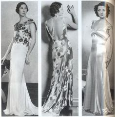 Bias cut dresses from the 1930s