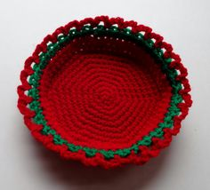 "This two color petite basket is both attractive and very simple to make. In a couple of hours or less, you can make a useful basket that measures about 5.5"" in diameter across the bottom and about 1.75"" high. Have fun and create your own color palette for any occasion, holiday, décor, or season. Match your home décor, or make a variety in fun colors to give as gifts for Christmas, Hanukah, Birthdays, Mothers' Day, Showers, and so many other occasions. Note: This is a crochet pattern. Upon…"