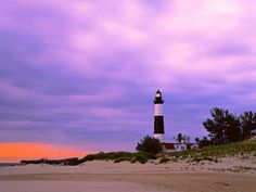 Big Sable Point Lighthouse, Ludington State Park, Michigan, USA