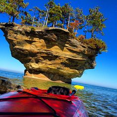 """Located just west of the tip of Michigan's thumb on Lake Huron, Port Austin's Turnip Rock is so remote, it can be reached only by kayaks, which are readily available for rental (in the summer, kayak reservations are recommended). """"All the land along the shore is privately owned,"""" Blackmer explains. The seven-mile roundtrip is a workout, """"but it is completely and totally worth it,"""" she adds. And don't worry if you're not an experienced kayaker: """"Even if you tip over, you'll only be in…"""