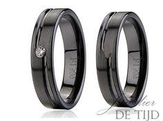 Wolfraam zwarte keramiek trouwringen 6mm breed - Juwelier de Tijd   Persoonlijk advies over trouwringen, sieraden en taxaties