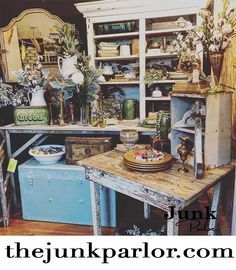 Vintage display with Farmhouse Finds Vintage Booth Display, Antique Booth Displays, Vintage Store Displays, Vendor Displays, Store Window Displays, Vendor Booth, Retail Displays, Shop Displays, Furniture Store Display
