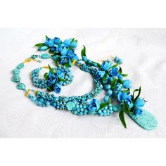 Turquoise Jewelry Statement Necklace with Рrimroses Flowers, Multi... (3 115 UAH) via Polyvore featuring jewelry, necklaces, turquoise statement necklace, turquoise jewelry, beaded necklaces, flower pendant necklace и flower necklaces