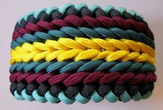 Endless Falls Modified Sanctified 550 Paracord Bracelet. This is a wide bracelet that measures 2 ...