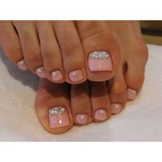 Toe Nail Designs Do It Yourself | Chic Toe Nail Art Ideas for Summer via Polyvore / Great Hair