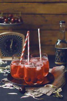 Homemade Cherry Vanilla Cola & Rum +++keksunterwegs.de+++