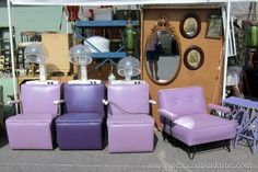 Vintage Purple Chairs {The Hair Dryer Beauty Shop Kind} - Petticoat Junktion