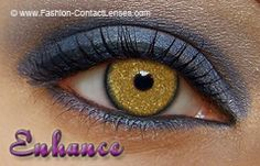 Gold fleck contacts.