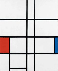 Mondrian, Composition in White, Red, and Blue