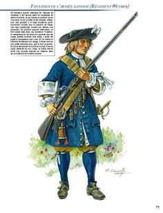 Swedish soldier of The Scanian War of the 1670's.