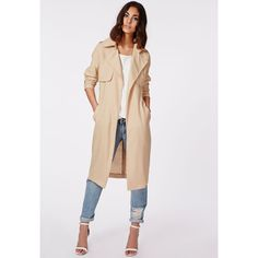 Missguided Hennie Lightweight Trench Coat Stone and other apparel, accessories and trends. Browse and shop 4 related looks.