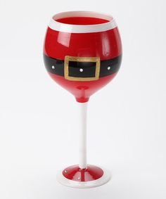 Suitable for spiced wine or a nice red, this elegant glass boasts festive details that practically sing Christmas carols with every sip.