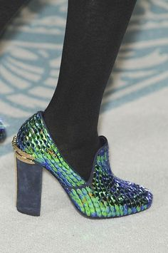 Shoe Porn: Jaw-dropping loafers at Tory Burch (that resemble tropical fish scales!)