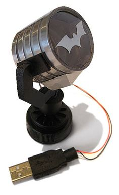 USB Batman Signal. Adam needs this for his desk!