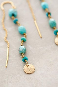 Threaded Coin Earrings - anthropologie.com #anthropologie #AnthroFave