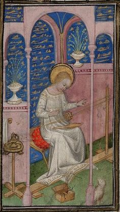 15th (1400-1450) France Cambridge, Harvard University, Houghton Library MS Richardson 042 fol. 20  http://app.cul.columbia.edu:8080/exist/scriptorium/individual/MH-H-309.xml?