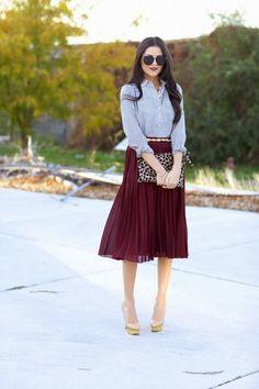 INSPIRE STYLE - midi skirts