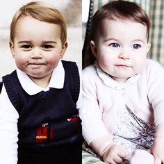 Prince William and a future heir to the British throne and his baby sister Princess Charlotte.