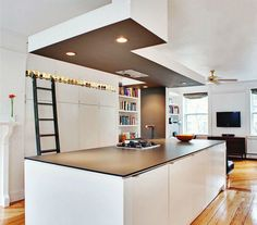 this kitchen is made of IKEA cabinets and a trespa countertop. Love it!