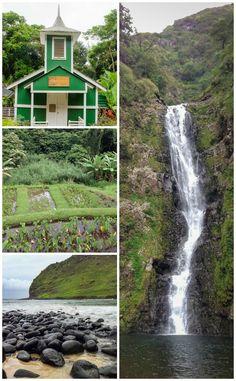 Scenes from the Halawa Valley on the Hawaiian Island of Molokai