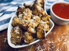 Phillip and I love Italian food, we could eat it daily. One of our favorite meals is Eggplant Parmesan, the rich and creamy flavors of that dish just transport you to heaven with each bite. Many times Eggplant Parmesan leaves us feeling over stuffed at the end of the meal. We decided to make Eggplant Bites to curb our cravings and leave room to enjoy more delicious Italian favorites. These light and crisp bites dunked in marinara allow you to have this as an appetizer or even a side di…