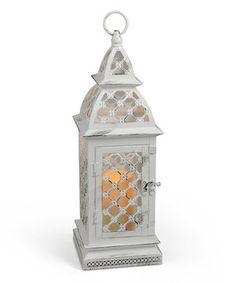 Loving this White Lattice Flameless Lantern on #zulily! #zulilyfinds