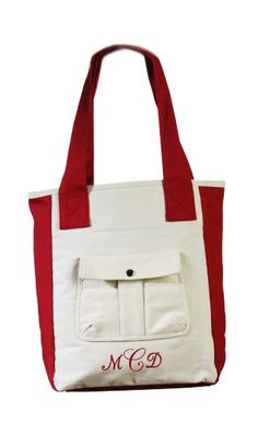"""Durable Canvas Bag Made from 100% Cotton Size: 13"""" x 10.5"""" x 4.5"""" Whether it's in the office, at school, or girls' night out, these durable, canvas tote bags will be sure to make an impression. With a lovely and elegant design, you'll feel wonderfully equipped and look fabulous too. Each handbag has a front billowed patch pocket with snap closure, perfect for quick and secure access, as well as secure pockets inside for your cell phone and other daily essentials. With a variety of…"""