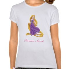 Add your name to this pretty Rapunzel Princess Personalized T Shirt.