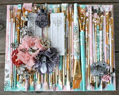 Mixed Media Paintbrush Canvas by Miranda Edney